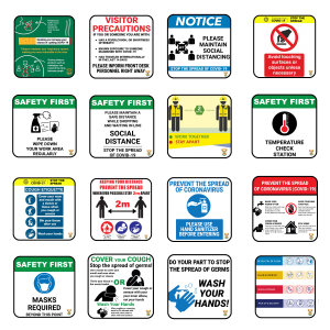 complete covid 19 sign kit